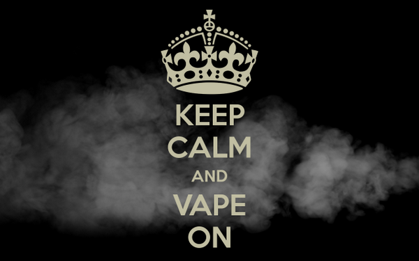 keep calm vape on